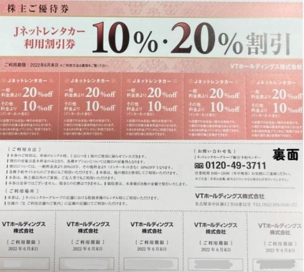 KeePer LABO キーパーラボ 20%割引 VTホールディングス株主優待券 1冊_画像3