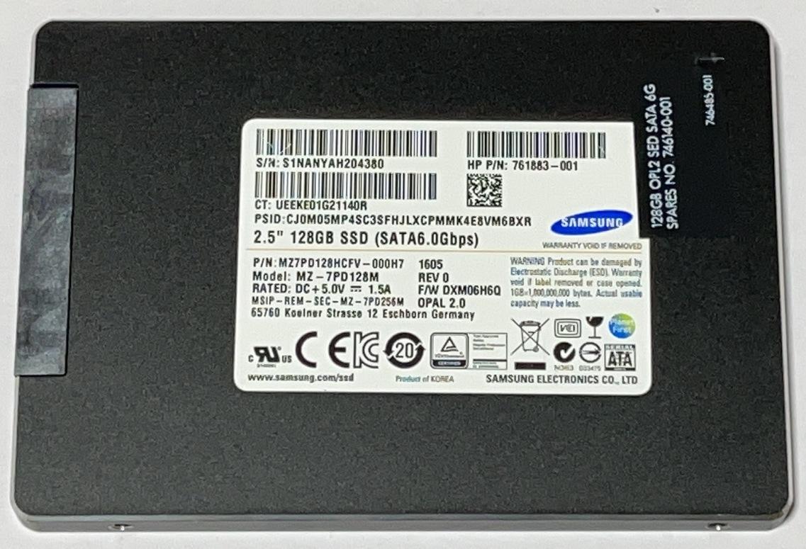 使用時間269H 2.5インチ SAMSUNGMZ7PD128HCFV-000H7 128GB 073005