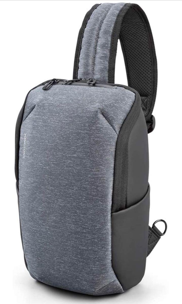 Kingsons ボディバッグ ワンショルダーバッグ 斜めがけ 大容量 軽量 防水 メンズ
