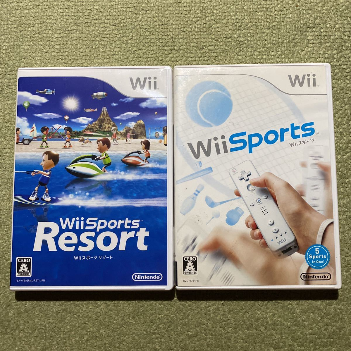 Wii Wii Sports Wiiスポーツリゾート 2本セット 即決