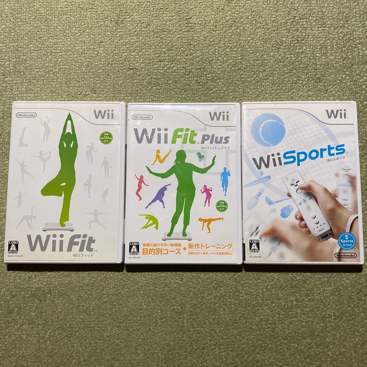 Wii Wiiフィット Wiiスポーツ 3本セット