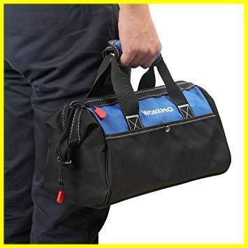 1R 新品 道具袋 工具差し入れ 工具バッグ ツールバッグ 在庫限り 大口収納 WORKPRO 600Dオックスフォード 13-Inch ワイドオープ_画像8