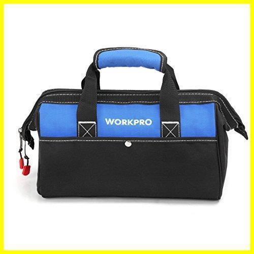 1R 新品 道具袋 工具差し入れ 工具バッグ ツールバッグ 在庫限り 大口収納 WORKPRO 600Dオックスフォード 13-Inch ワイドオープ_画像1