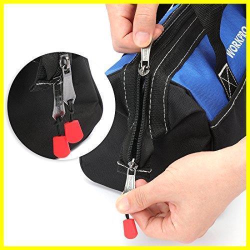 1R 新品 道具袋 工具差し入れ 工具バッグ ツールバッグ 在庫限り 大口収納 WORKPRO 600Dオックスフォード 13-Inch ワイドオープ_画像4