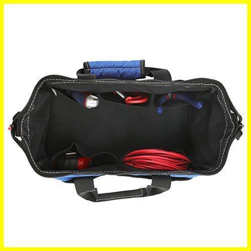 1R 新品 道具袋 工具差し入れ 工具バッグ ツールバッグ 在庫限り 大口収納 WORKPRO 600Dオックスフォード 13-Inch ワイドオープ_画像3