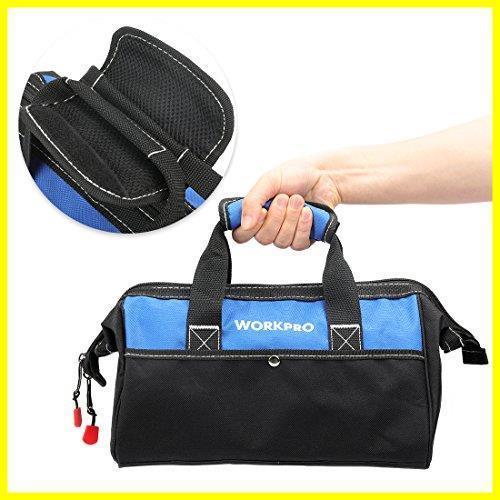 1R 新品 道具袋 工具差し入れ 工具バッグ ツールバッグ 在庫限り 大口収納 WORKPRO 600Dオックスフォード 13-Inch ワイドオープ_画像5