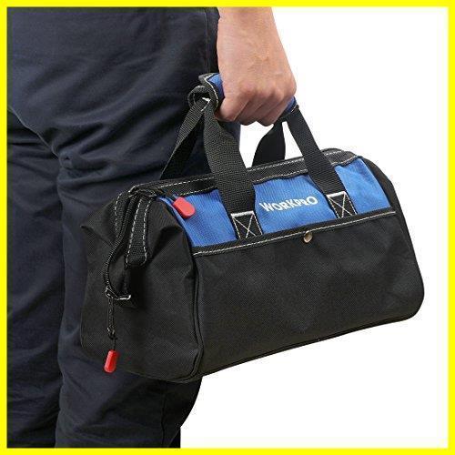 1R 新品 道具袋 工具差し入れ 工具バッグ ツールバッグ 在庫限り 大口収納 WORKPRO 600Dオックスフォード 13-Inch ワイドオープ_画像6