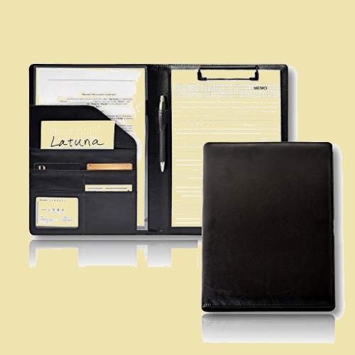 大人気 新品 未使用 バインダ- [Latuna] 6-Y7 (ブラック, PUレザ-) A4 革 クリップボ-ド ギフト 贈り物 PU 高級感 クリップ_画像1