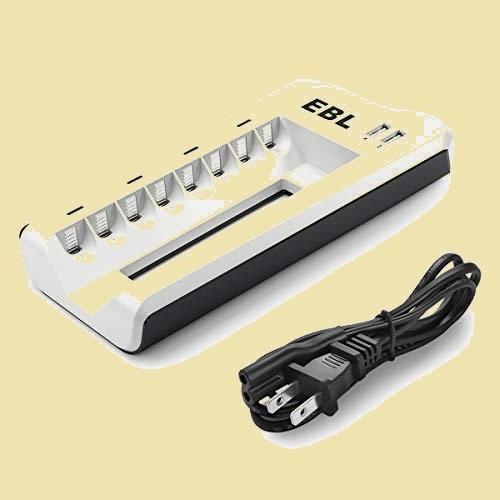 未使用 新品 電池充電器 EBL 7-KK 充電 充電池単体 8スロット単四ニッケル水素/ニカド充電池に対応 単3単4電池充電器 USB充電器_画像1