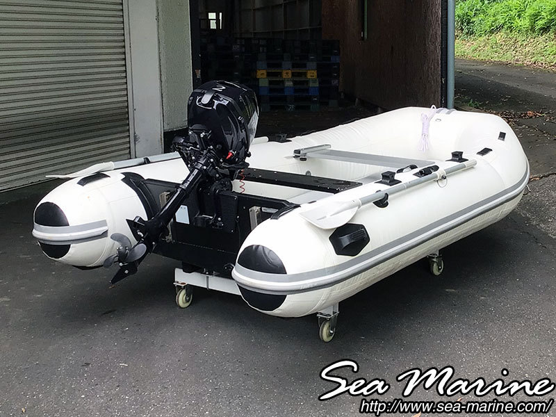 「中古 アキレスゴムボート 2馬力船外機付き(船舶検査・免許不要)  【sea-marine】」の画像3