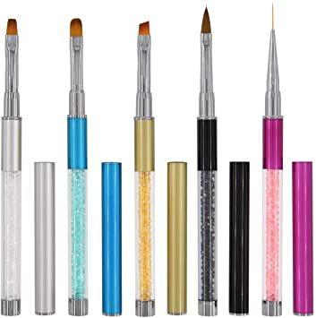 セット#2 ネイルブラシ Missct 高品質 ネイルアート筆 ジェルネイルペン フレンチ 平筆 ネイルペン アクリル 画筆 U_画像7