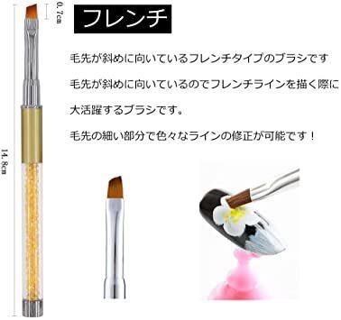 セット#2 ネイルブラシ Missct 高品質 ネイルアート筆 ジェルネイルペン フレンチ 平筆 ネイルペン アクリル 画筆 U_画像2