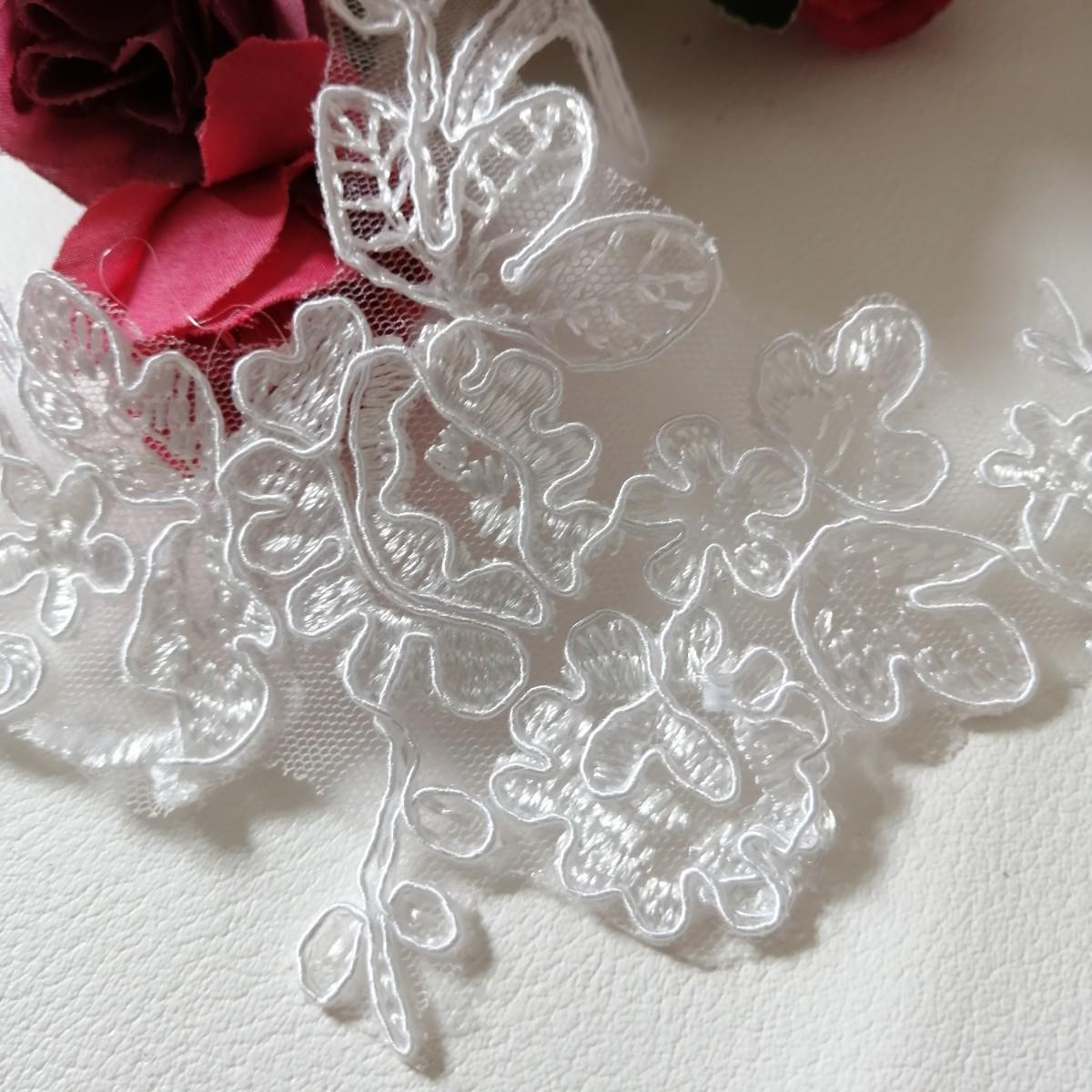 ハンドメイド ワッペン   刺繍 綺麗なワッベン 手作り 花モチーフ 10枚 3