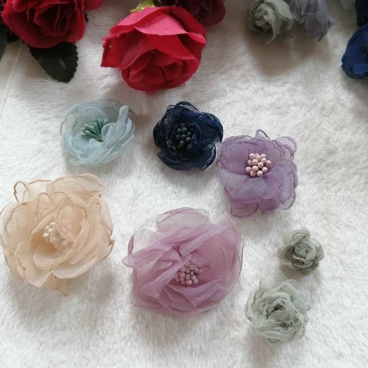 ハンドメイド ワッペン   刺繍 綺麗なワッベン 手作り モチーフ 花50W18