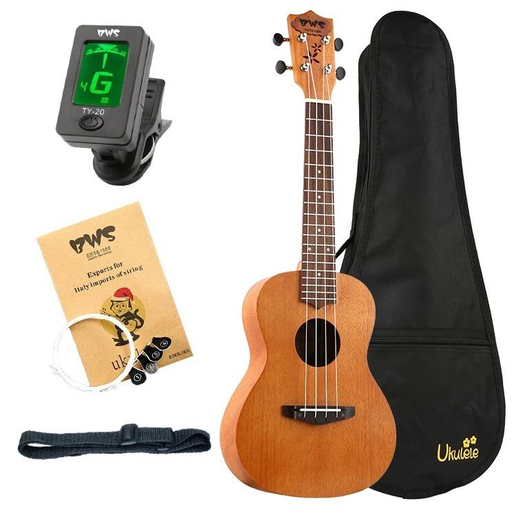23インチ マホガニー ハワイアン コンサートウクレレ ウクレレ キット 4弦 スモールギター ギター 楽器 ギフト_画像1