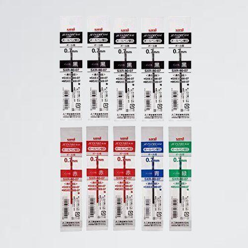 未使用 新品 油性ボ-ルペン替芯 三菱鉛筆 J-XT ジェットストリ-ム 多色多機能 0.7mm 4色 黒5/赤3/青1/緑 1SXR8007.24/15/33/6_画像1