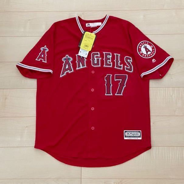 majestic Angels 大谷翔平 エンゼルス タグ付き 未使用 マジェスティック MLB メジャーリーグ エンジェルス ユニフォーム Lサイズ OHTANI