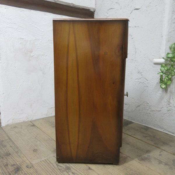 イギリス アンティーク 家具 サイドキャビネット ナイトスタンド 収納 飾り棚 木製 ウォルナット 英国 SMALLFUNITURE 6984b_画像7