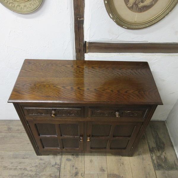 イギリス アンティーク 家具 サイドボード キャビネット 飾り棚 花台 収納 店舗什器 木製 オーク 英国 SIDEBOARD 6027c_画像5