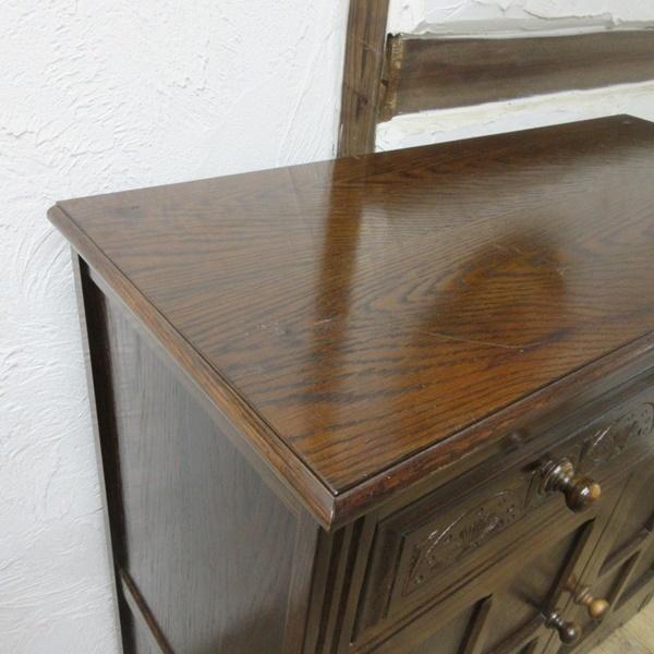 イギリス アンティーク 家具 サイドボード キャビネット 飾り棚 花台 収納 店舗什器 木製 オーク 英国 SIDEBOARD 6027c_画像10