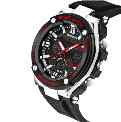 【スポーツメンズ腕時計】男性 SANDA デジタル 多機能 ストップウォッチ 5色 アラーム 24時間形式 防水_画像3