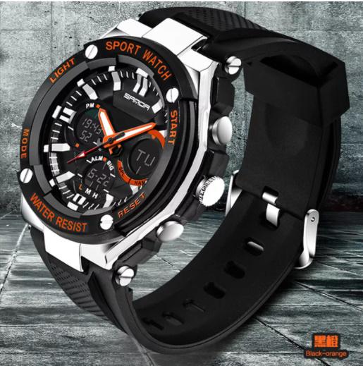 【スポーツメンズ腕時計】男性 SANDA デジタル 多機能 ストップウォッチ 5色 アラーム 24時間形式 防水_画像1