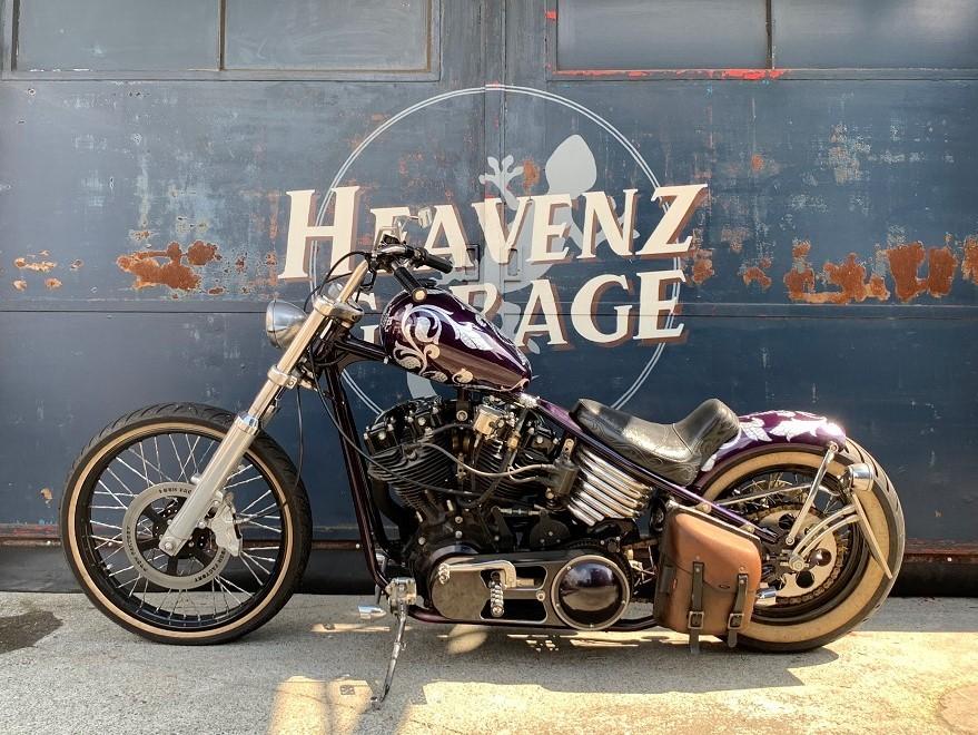 「ハーレー 公認リジットショベル 1978年FXS1200エンジン使用 ★HEAVEVZ GARAGE販売車輛★」の画像2