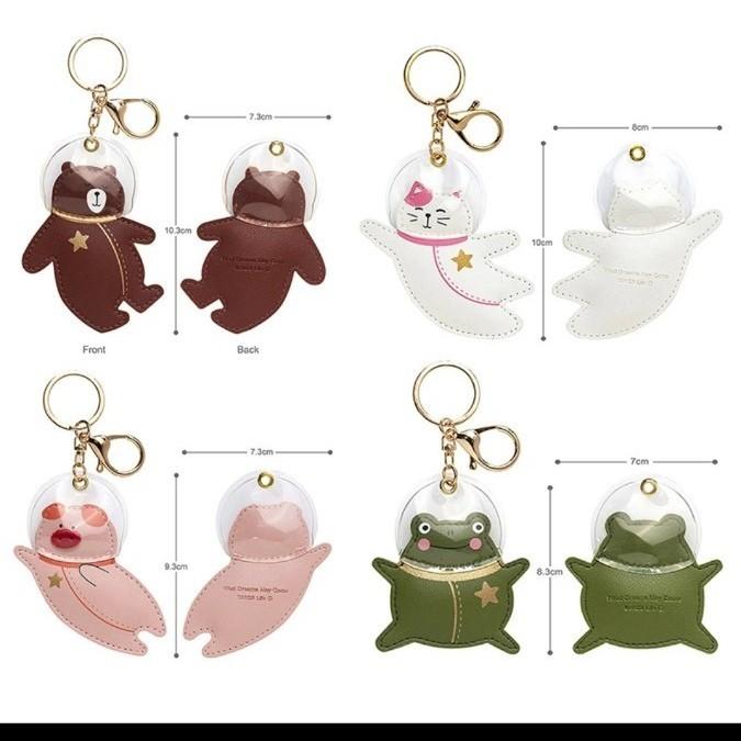 キーホルダー カエル 革 チャーム かえる 蛙 キーリング バッグ バック