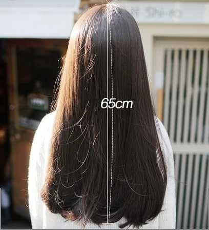 ロングフルウィッグ 自然 ナチュラルストレート ふんわり ロング 高品質 耐熱 ウィッグ ヘアネット付 かつら 人毛 に近い 医療用 さらさら_画像5