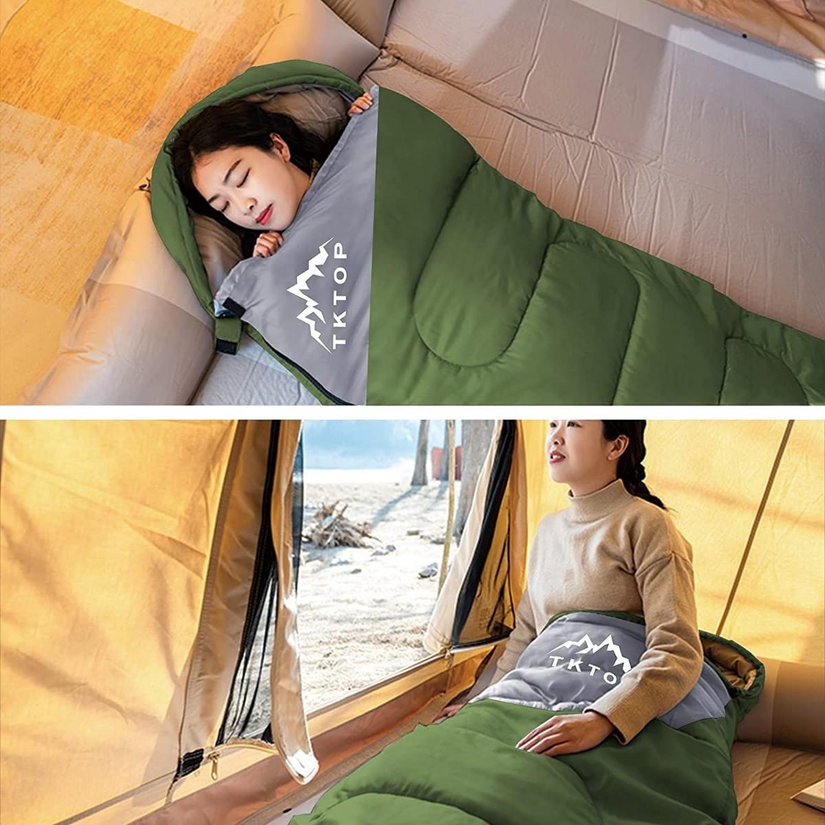 寝袋 封筒型 軽量 保温 210T防水シュラフ 収納パック付き 1kg