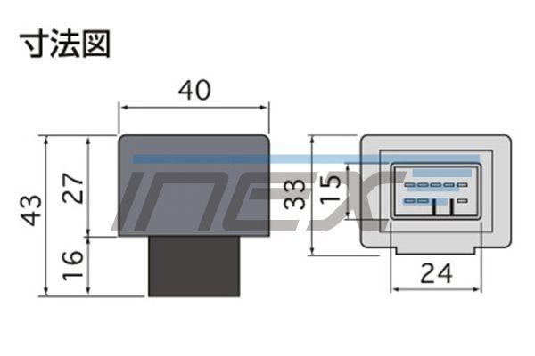 NCP/SCP10#系 ラクティス [H17.9-H22.11] ハイフラ防止 ICウインカーリレー アンサーバック対応 8ピンタイプ 8pin_画像2