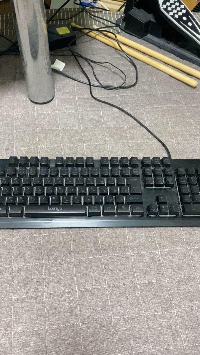 Icsriya ZK-G081 ゲーミングキーボード(ブラック)