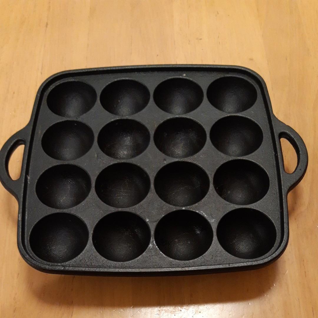 たこ焼き器 鉄鋳物製 16穴