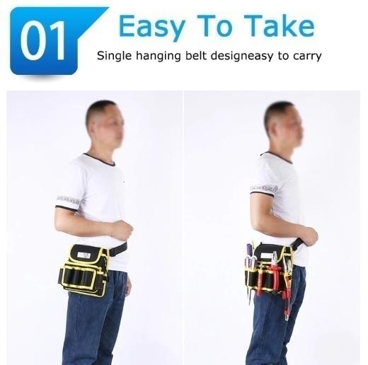 工具腰袋 ウエストポーチ ツールバッグ 工具差し 工具 収納 多機能 ウエストハンギングバッグ 工具入れ DIY 道具箱 LH256_画像10