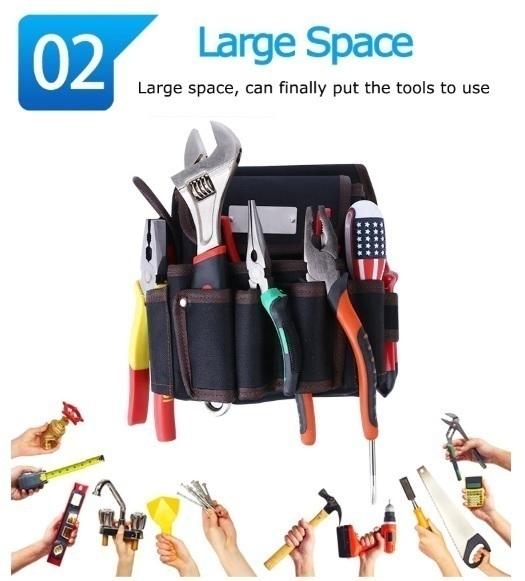 工具腰袋 ウエストポーチ ツールバッグ 工具差し 工具 収納 多機能 ウエストハンギングバッグ 工具入れ DIY 道具箱 LH256_画像8