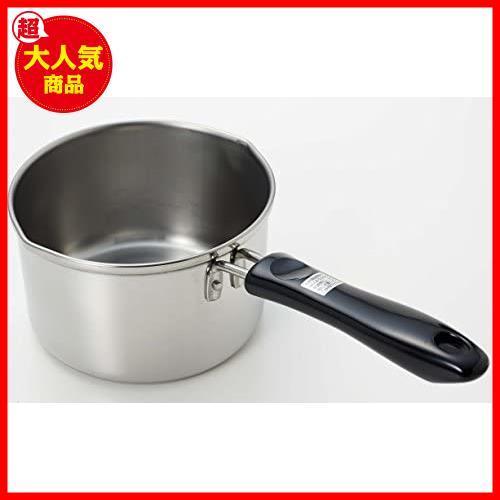 【大特価】ミルクパン 13cm IH対応 ステンレス パール金属 デイズキッチン 日本製 H-5171_画像2