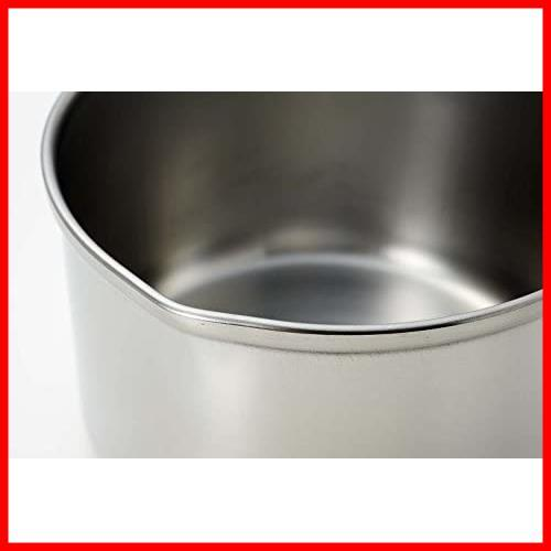 【大特価】ミルクパン 13cm IH対応 ステンレス パール金属 デイズキッチン 日本製 H-5171_画像3