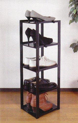 ブラック ライクイット(like-it)靴収納シューズラック スリム 5段幅23.8x奥28.5x高93cmブラック日本製CUB_画像2