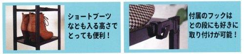 ブラック ライクイット(like-it)靴収納シューズラック スリム 5段幅23.8x奥28.5x高93cmブラック日本製CUB_画像3