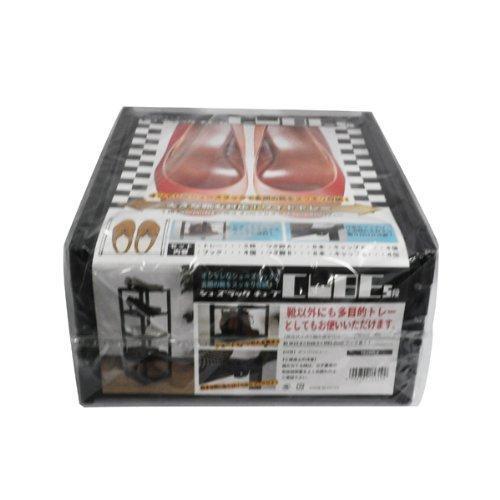 ブラック ライクイット(like-it)靴収納シューズラック スリム 5段幅23.8x奥28.5x高93cmブラック日本製CUB_画像5