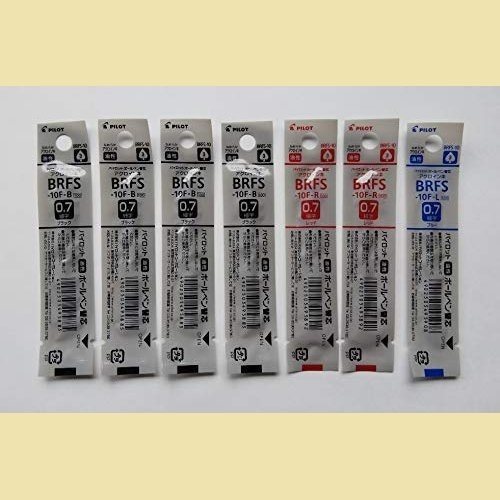 ラスト1点 新品 油性ボ-ルペン替芯 パイロット K-PF 細字0.7mm 黒4本/赤2本/青1本 BRFS-10F-B4/R2/L1 3色7本組み_画像1