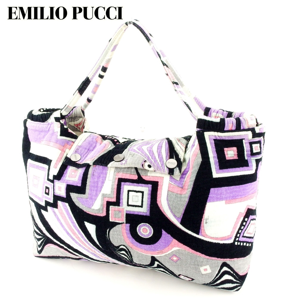 [آخر نقطة] حقيبة حمل Emilio Pucci حقيبة كتف كبيرة من Pucci (نمط) EMILIO PUCCI تستخدم T10337 E & Emilio Pucci وغيرها