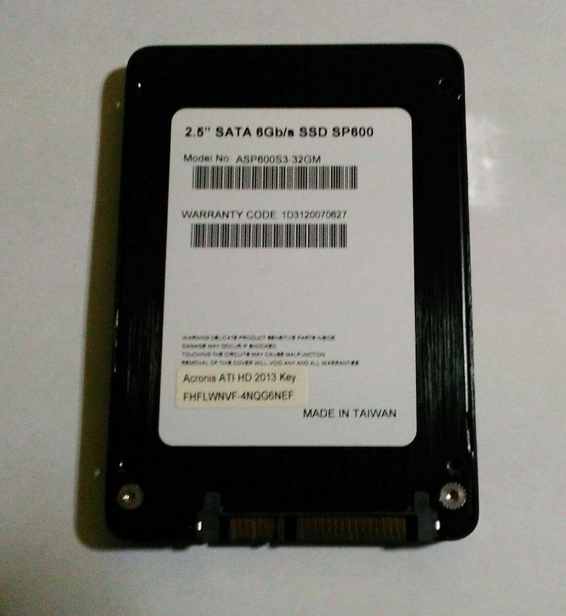 SSD 32GB SP600 正常品