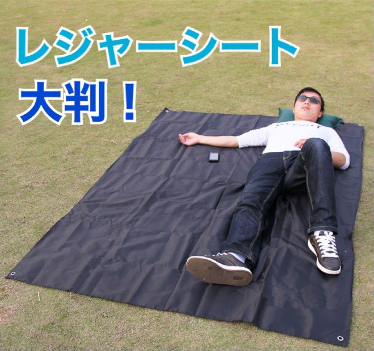 レジャーシート 大判 キャンプ ピクニック 運動会 お花見 アウトドア ブラック