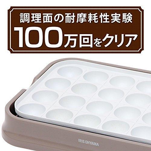 新品グレー アイリスオーヤマ たこ焼き器 2WAY ( たこ焼きプレート 24穴 平面プレート ) セラSYNB_画像2