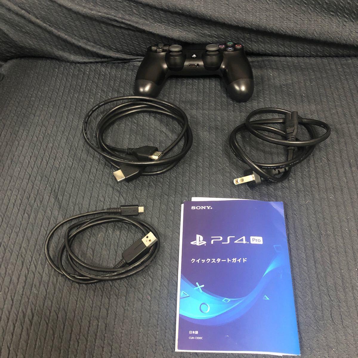 ps PS4 Pro ジェット・ブラック2tb カセット2本    ケーブル一式有 動作確認済