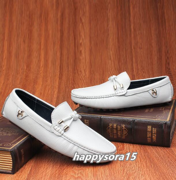 ローファー メンズ スリッポン ビジネス ドライビングシューズ 靴カジュアル 通気 夏用 ホワイト  26cm_画像2
