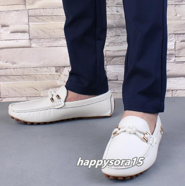 ローファー メンズ スリッポン ビジネス ドライビングシューズ 靴カジュアル 通気 夏用 ホワイト  26cm_画像3