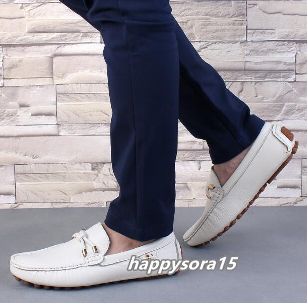 ローファー メンズ スリッポン ビジネス ドライビングシューズ 靴カジュアル 通気 夏用 ホワイト  26cm_画像4