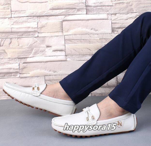 ローファー メンズ スリッポン ビジネス ドライビングシューズ 靴カジュアル 通気 夏用 ホワイト  26cm_画像6